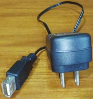故障したUSB充電器