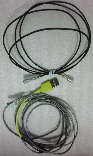 レンズヒーターと電源ケーブル